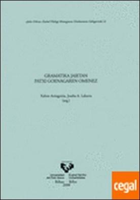 Gramatika jaietan Patxi Goenagaren omenez por Artiagoitia Beaskoetxea, Xabier