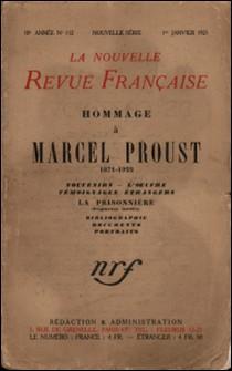 La Nouvelle Revue Française (1908-1943) N° 112 janvier 1923-Gallimard