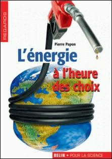 L'énergie à l'heure des choix-Pierre Papon