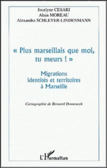 Plus marseillais que moi, tu meurs !. Migrations, identités et territoires à Marseille-Alexandra Schleyer-Lindenmann , Jocelyne Cesari , Alain Moreau