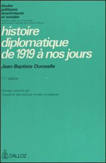 Histoire diplomatique de 1919 à nos jours-Jean-Baptiste Duroselle