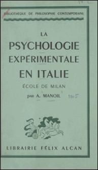La psychologie expérimentale en Italie : école de Milan-A. Manoil
