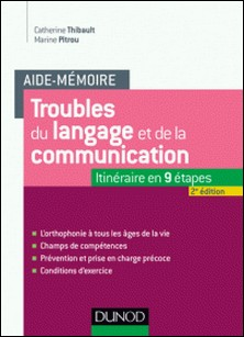 Aide-mémoire - Troubles du langage et de la communication - 2e éd. - L'orthophonie à tous les âges de la vie-Catherine Thibault , Marine Pitrou