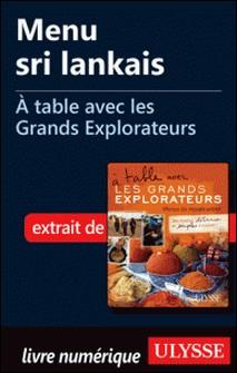 A table avec les grands explorateurs - Menu sri lankais-Andrée Lapointe