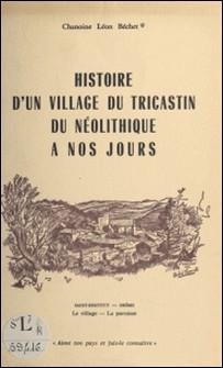 Histoire d'un village du Tricastin, du néolithique à nos jours - Saint-Restitut, Drôme : le village, la paroisse-Léon Béchet , André Tzanck , Luce Morel