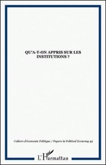 Cahiers d'économie politique N° 44 Printemps 2003-Roger Frydman , Alain Guery , Jean-Jacques Gislain , Bruno Théret , Collectif