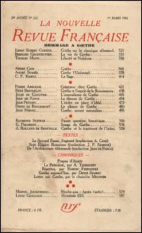 La Nouvelle Revue Française (1908-1943) N° 222 mars 1932-Gallimard