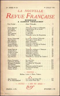 La Nouvelle Revue Française (1908-1943) N° 274 juillet 1936-Gallimard