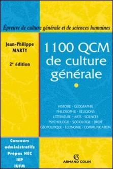 1100 QCM de culture générale - Catégories A et B-Jean-Philippe Marty