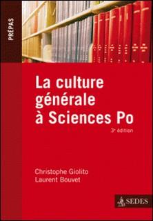 La culture générale à Sciences Po-Christophe Giolito