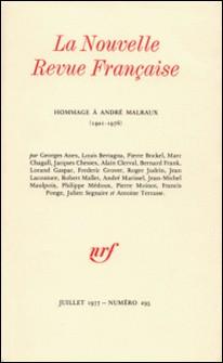 La Nouvelle Revue Française N° 295 (juillet 1977-Gallimard