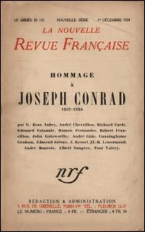 La Nouvelle Revue Française (1908-1943) N° 135 décembre 1924-Gallimard