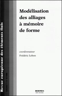 Revue européenne des éléments finis Volume 7 N° 8/1998-Frédéric Lebon