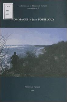 Hommages à Jean Pouilloux-Collectif