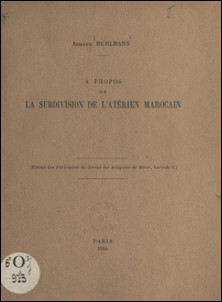 À propos de la subdivision de l'atérien marocain-Armand Ruhlmann