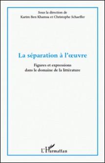 La séparation à l'oeuvre - Figures et expressions dans le domaine de la littérature-Karim Ben Khamsa , Christophe Schaeffer