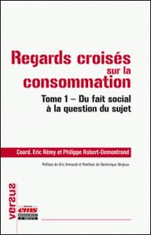 Regards croisés sur la consommation - Tome 1, Du fait social à la question du sujet-Eric Rémy , Philippe Robert-Demontrond