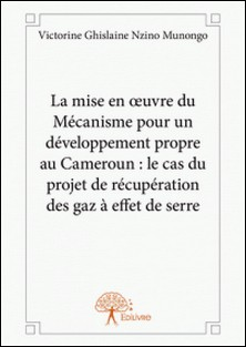 La mise en oeuvre du mécanisme pour un développement propre au Cameroun : le cas du projet de récupération des gaz à effet de serre-Victorine Ghislaine Nzino Munongo