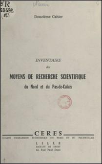 Inventaire des moyens de recherche scientifique du Nord et du Pas-de-Calais-A. Nanin