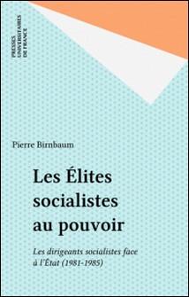 LES ELITES SOCIALISTES AU POUVOIR. Les dirigeants socialistes face à l'Etat, 1981-1985-Pierre Birnbaum
