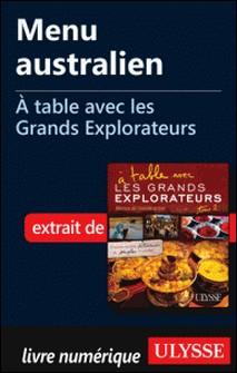 A table avec les grands explorateurs - Menu australien-Andrée Lapointe
