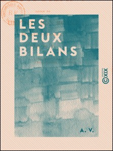 Les Deux Bilans - Études poétiques-A. V.