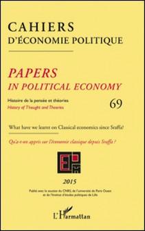 Cahiers d'économie politique N° 69/2015-Patrick Mardellat