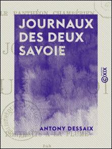 Journaux des deux Savoie - Portraits à la plume-Antony Dessaix