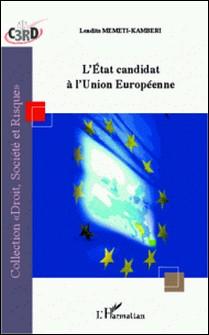 L'état candidat à l'union européenne-L'Harmattan