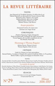 La Revue littéraire N° 29, Hiver 2006-20-Jean Dutourd , Gabriel Matzneff , Mathieu Bénézet , Alain Paucard