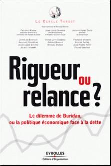 Rigueur ou relance ? - Le dilemme de Buridan, ou la politique face à la dette-Jean-Louis Chambon , Nicolas Bouzou , Philippe Marini , Jacques-Henry David
