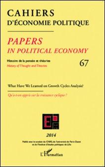 Cahiers d'économie politique N° 67-L'Harmattan