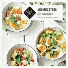 100 recettes de salades - et 100 listes de courses à flasher !-auteur