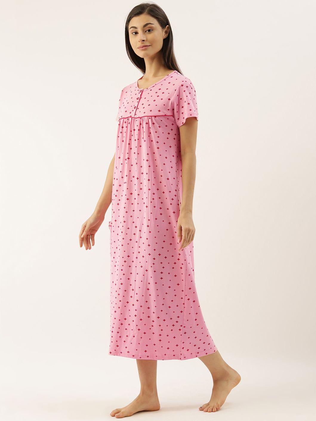 Slumber Jill Pink Stars Night Dress