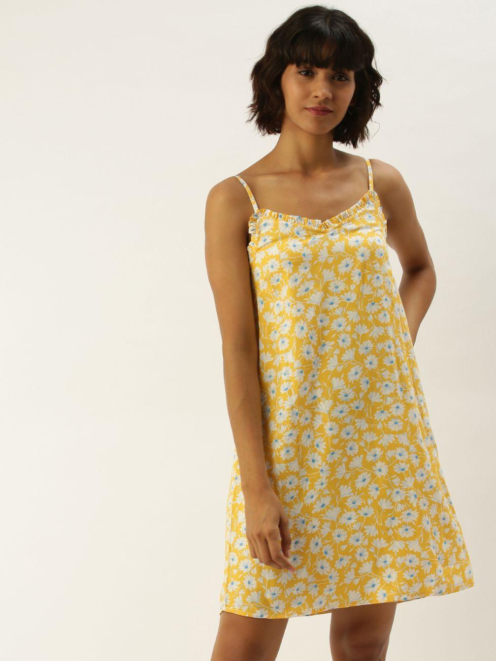 Slumber Jill Clementine-Yellow Dress