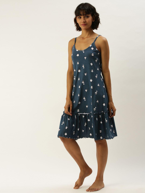 Slumber Jill Pandatoons Insignia Blue Night Dress