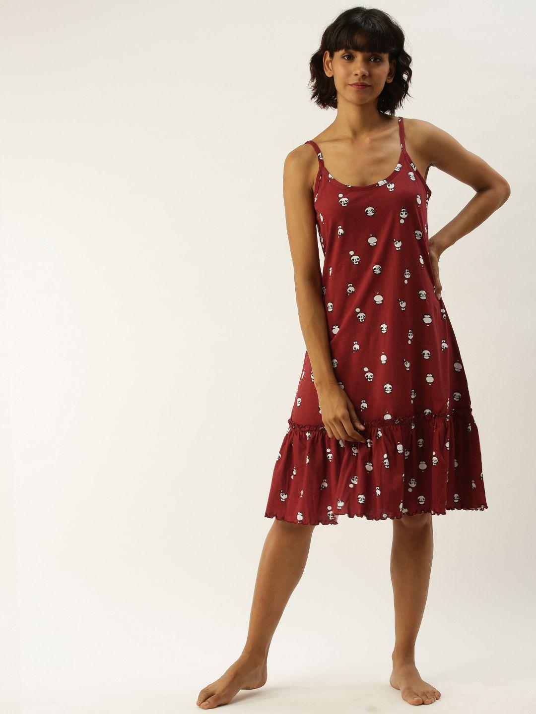 Slumber Jill Pandatoons Rio Red Night Dress