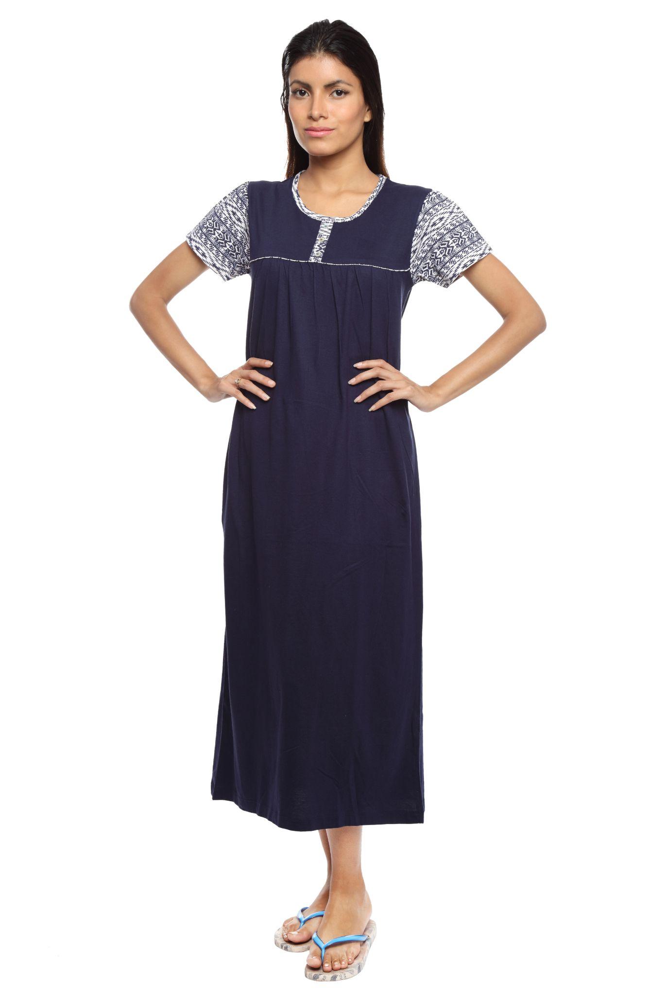 Slumber Jill Women Nighty (Blue)