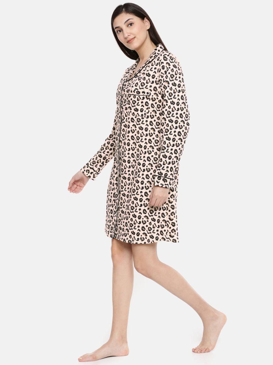 Slumber Jill Traditional Leopard Print Sleepshirt