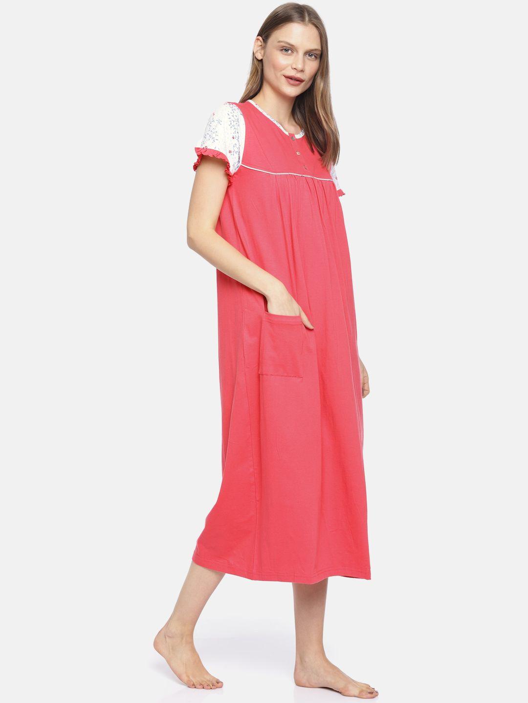 Slumber Jill Spring Blossom Red Night Dress