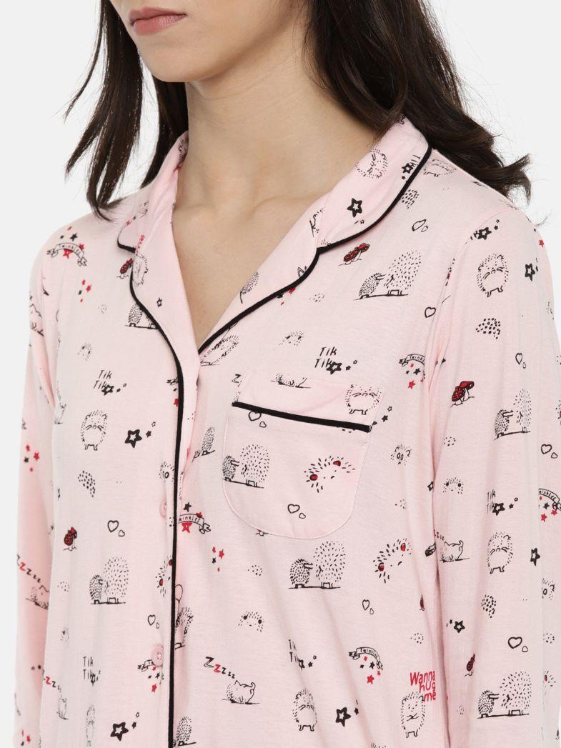 Slumber Jill Porcupine AOP Sleepshirt