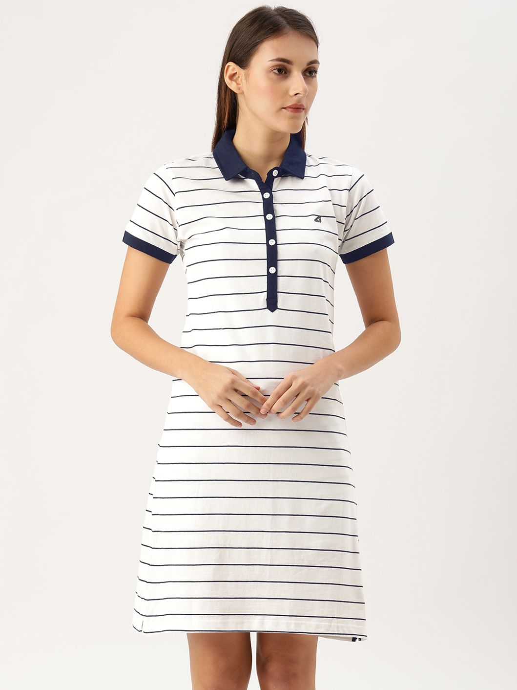Mariner White / Navy Polo Dress